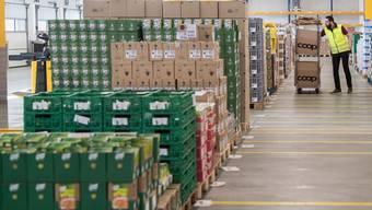 Seit Mittwoch in Betrieb: Provisorisches Lager für Coop@home-Produkte am Galliker-Standort Altishofen.