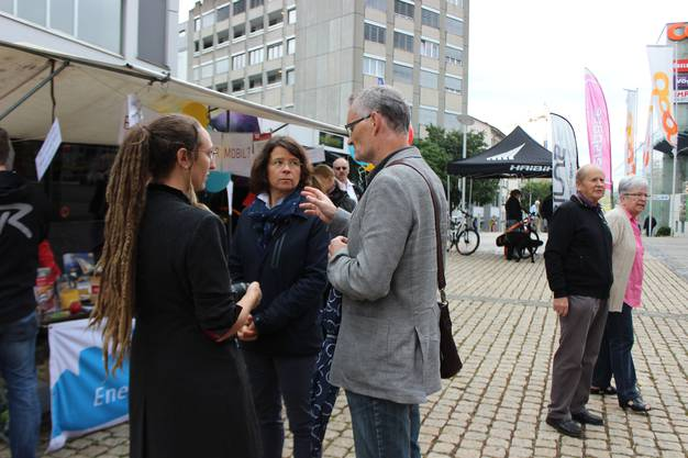 Der Stadtplaner im Gespräch mit Besuchern