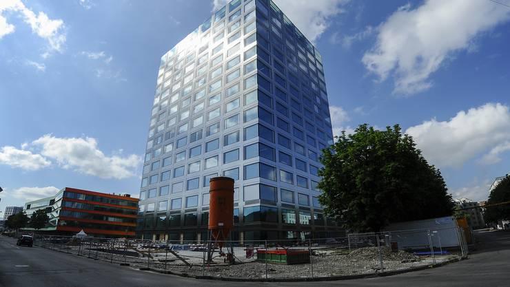 Das neue Biozentrum an der Basler Spitalstrasse ist noch nicht ganz fertig.