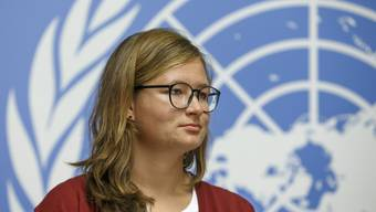 Spricht auch mal im Namen der UNO: Marie-Claire Graf an einer Pressekonferenz in Genf.