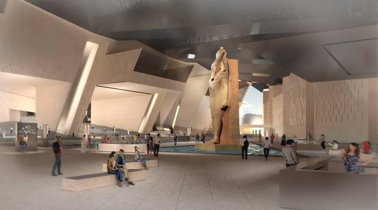So grosszügig soll es im Grand Egyptian Museum einst aussehen.