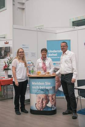 Das Stand-Team (v.l.n.r.): Carmen Ammann, Petra Tobler, Heiri Zaugg