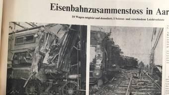 Das schwere Zugunglück im Aarauer Bahnhof.