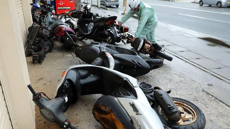 """In Japan hat der Taifun """"Trami"""" stark gewütet."""