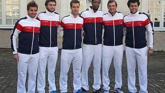 Clément, Simon, Gasquet, Monfils, Benneteau und Tsonga (v.l.)