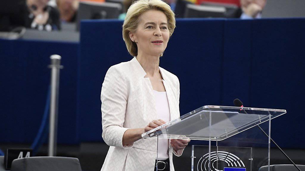 Das EU-Parlament hat am Dienstag in Strassburg Ursula von der Leyen zur neuen EU-Kommissionspräsidentin gewählt.