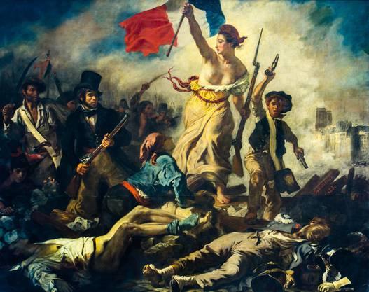 Eugene Delacroix: Die Freiheit führt das Volk (bezieht sich zwar auch 1830, aber Revolution ist Revolution).