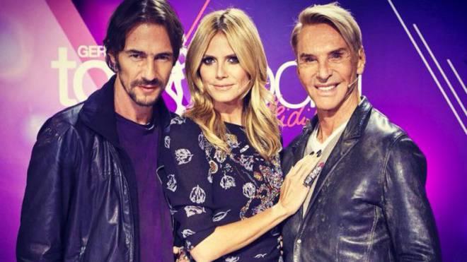 Die Jury von «Germany's Next Topmodel»: Thomas Hayom, Heidi Klum, Wolfgang Joop.  Foto: Pro7