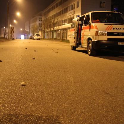 Steine flogen gegen die Polizei