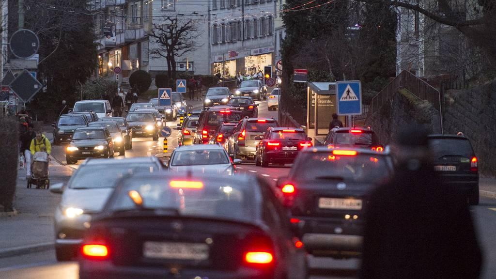 Auf der Teufener Strasse in St.Gallen staut es regelmässig.