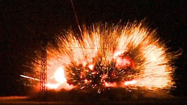 Explosion des Sprengstoffs