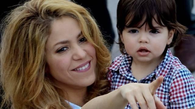 Lernen voneinander: Shakira und Sohn Milan (Archiv)