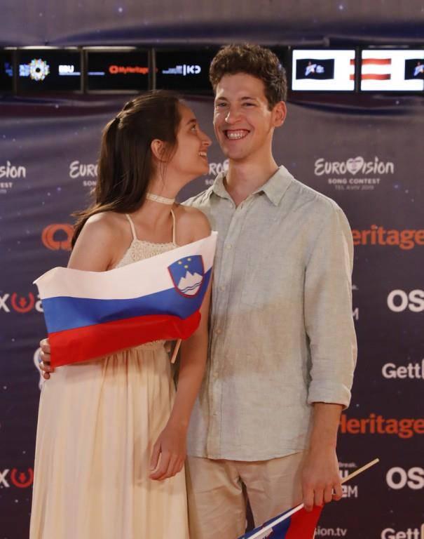 Zala Kralj und GaÅ¡per Santl sind für Slowenien angereist.