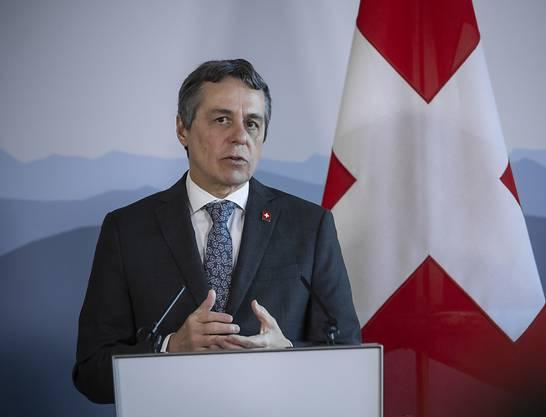 Aussenminister Ignazio Cassis will mit einer Initiative die Wirtschaft im Mittleren Osten ankurbeln, damit dort wirtschaftliche Perspektiven entstehen. (Archivbild)