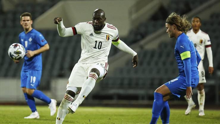 """Die """"falsche"""" Nummer 10: Romelu Lukaku im Spiel gegen Island."""