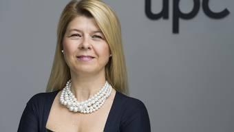 UPC-Schweiz-Chefin Severina Pascu muss einen weiteren Umsatzrückgang im zweiten Quartal verkünden, sieht aber Zeichen für eine Besserung. (Archiv)