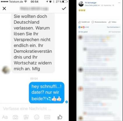 Schweigers Post auf Facebook