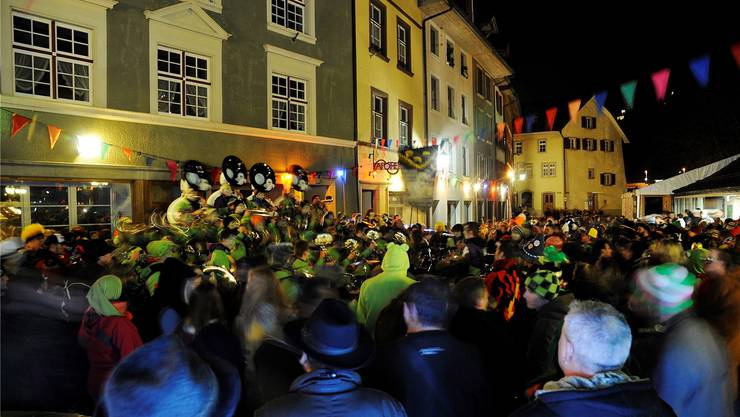 Am 1. März ist es in Laufenburg wieder so weit: Die Guggen erobern am Open-Air-Guggen-Festival die Altstadt. Archiv
