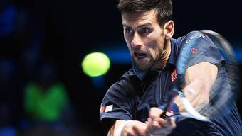 Novak Djokovic hatte im ersten Gruppenspiel Schreckensmomente zu überstehen