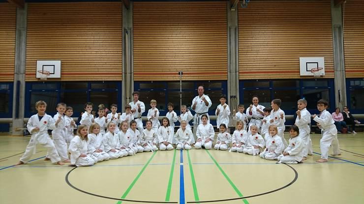 Karate-Kids der Gruppe 1 der Kampfsportschule Aarau