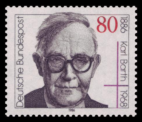 Karl Barth als Briefmarke 1886.