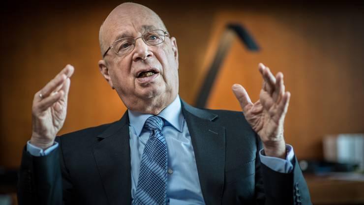 Diskutiert gern mit kritischen Geistern: WEF-Gründer Klaus Schwab.
