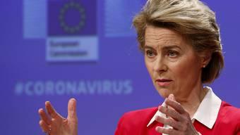 Die EU-Kommissionspräsidentin Ursula von der Leyen hat Ungarn wegen der Notstandsgesetze Konsequenzen angedroht. (Archivbild)