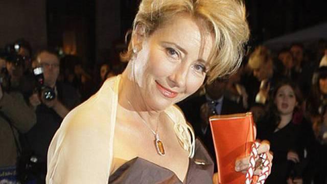 Schauspielerin Emmat Thompson kam mit Schwein zu Filmpremiere