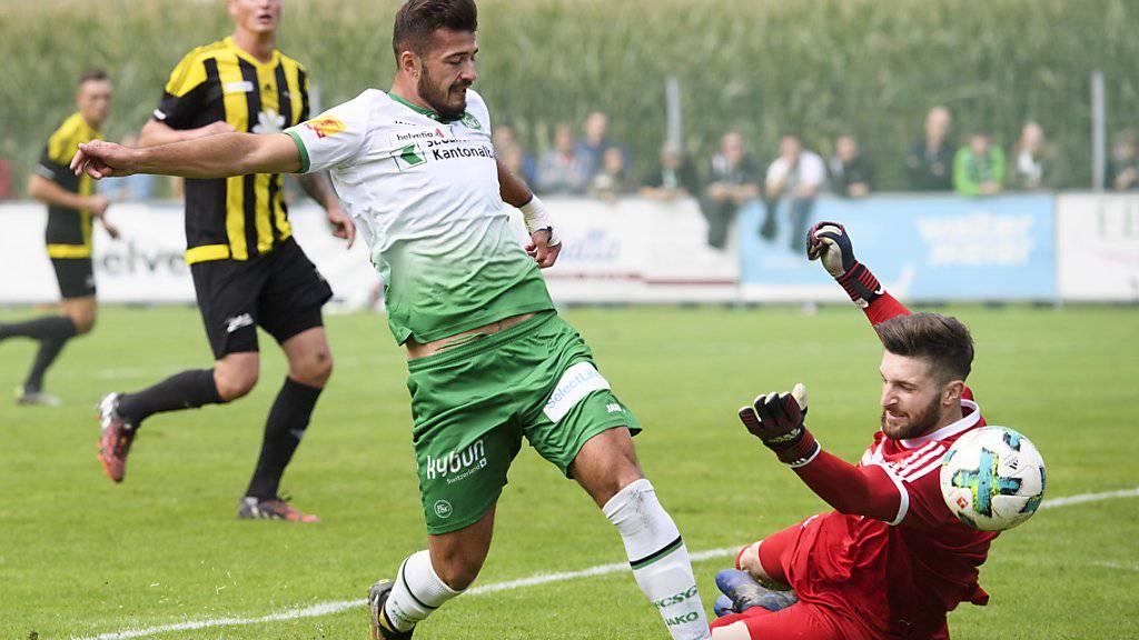 Der FC St. Gallen mit Albian Ajeti biss sich an den Amateuren von Linth 04 beinahe die Zähne aus