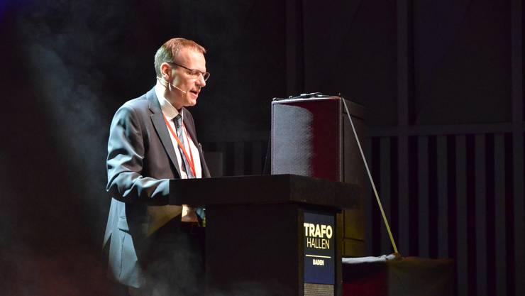 OK-Präsident Michael Wicki bei seiner Ansprache