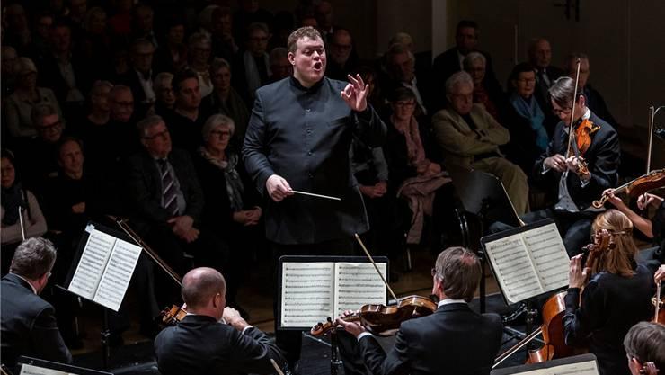 Der Norweger Rune Bergmann und das Argovia Philharmonic pflegen ein locker-federndes Musizieren. Ab 2020 wird er Chefdirigent.