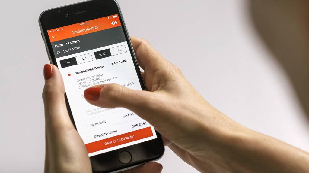 Technische Probleme auf App und Website der SBB