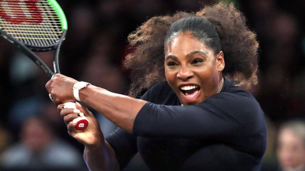 Serena Williams lässt sich auch als Mutter noch für das Tennis begeistern