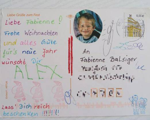 Der Brief von Alex an Fabienne im Winter 2003