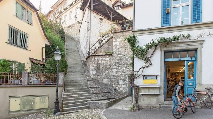 Die Städteinitiative verlangt von der Stadt Baden, sie soll den Fuss- und den Veloverkehr noch weiter fördern.