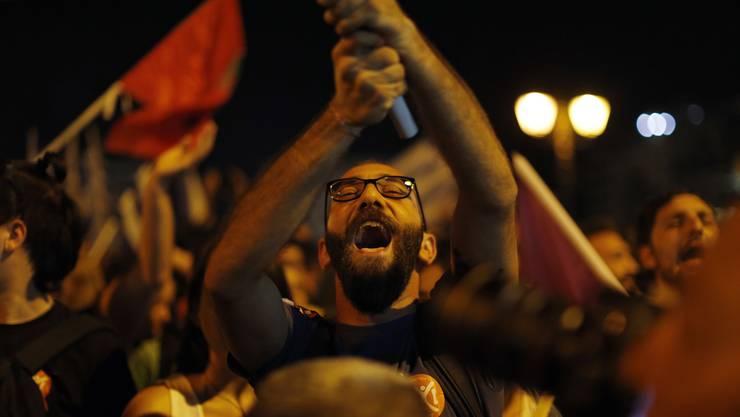So feiert das Nein-Lager der Griechen
