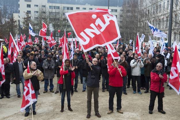 Demonstration gegen den Stellenabbau bei General Electric, Alstom