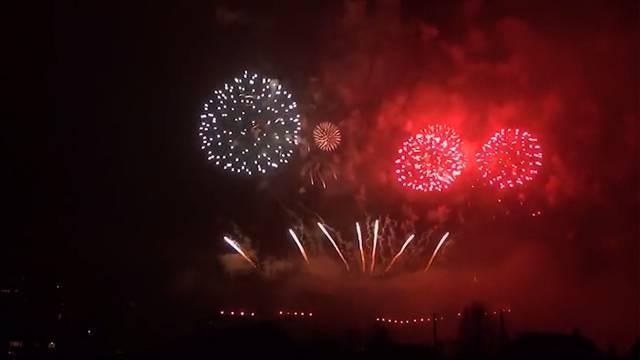 Eine Stunde dauert das grösste Feuerwerk der Schweiz