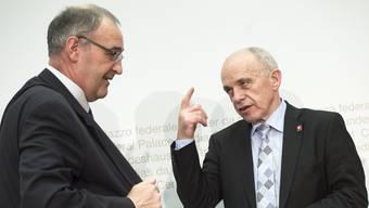 Wollten eigentlich gar keinen Gegenvorschlag: Guy Parmelin und Ueli Maurer.