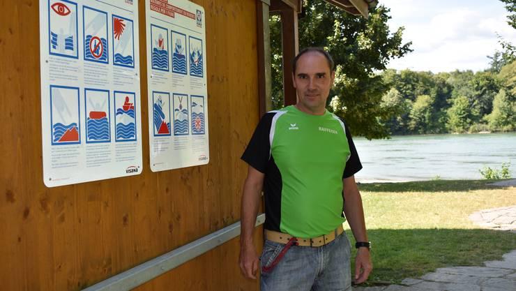 Daniel Winter ist um die Sicherheit von Flussschwimmern besorgt.