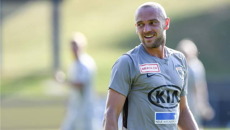 Gleich im ersten Spiel für den FC Aarau traf Marco Schneuwly.