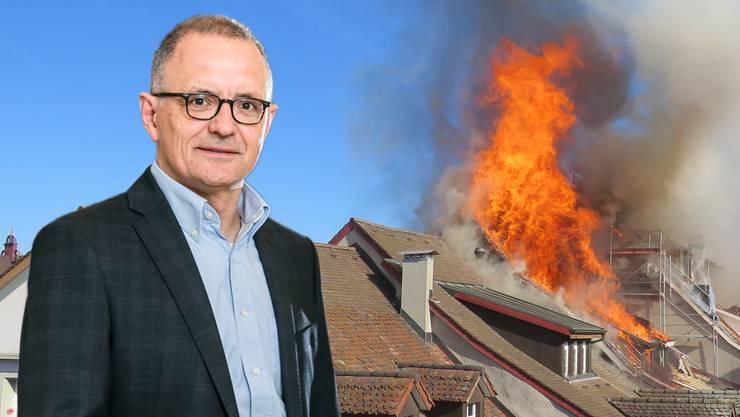 Stadtpräsident Hanspeter Hilfiker äusserte sich aus Facebook zum Grossbrand in der Aarauer Altstadt.
