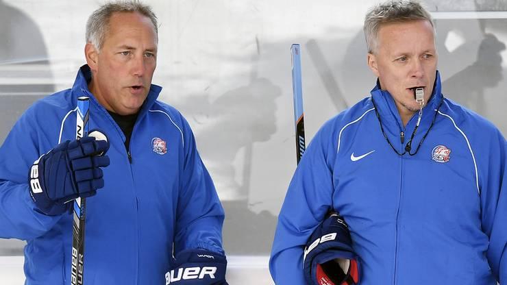 Die Schweden Hans Wallson (l.) und Lars Johansson (r.) sind das neue Trainerduo der ZSC Lions.