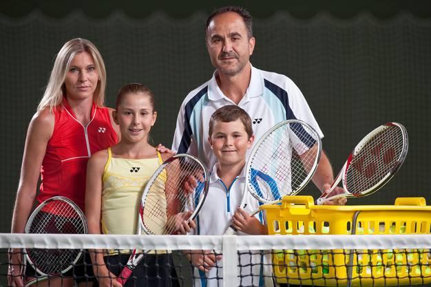 Die Familie Bencic auf einer Aufnahme aus demJahr 2009 in Wollerau.
