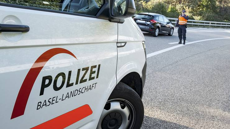 Die Polizei Basel-Landschaft im Einsatz.