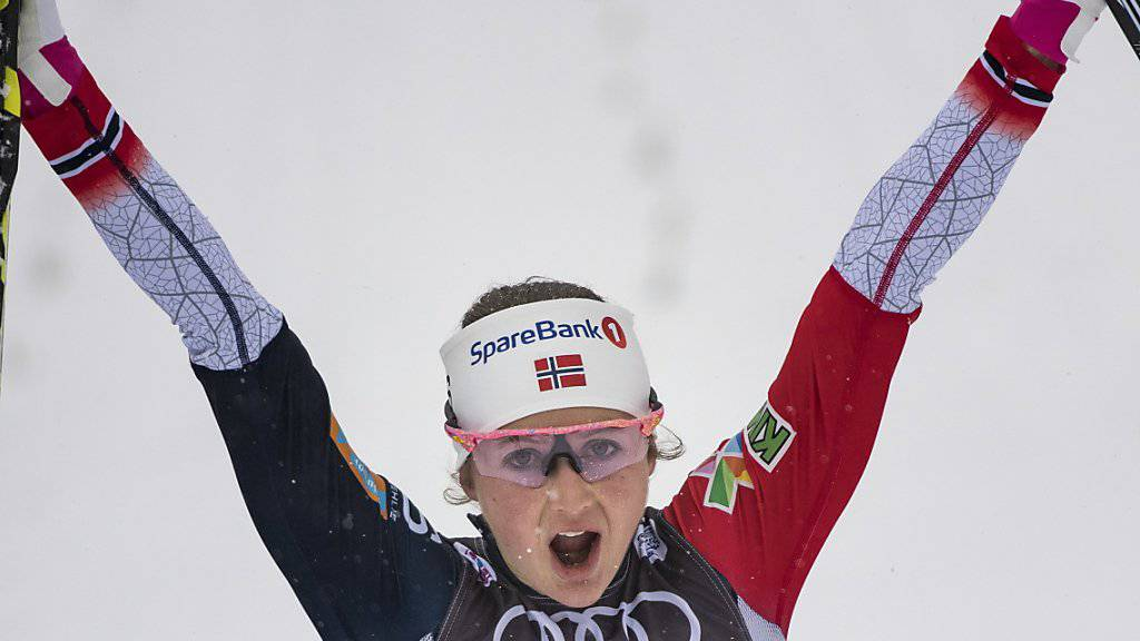 Ingvild Flugstad Östberg darf an der Tour de Ski bereits nach der vorletzten Etappe zum Jubel ansetzen