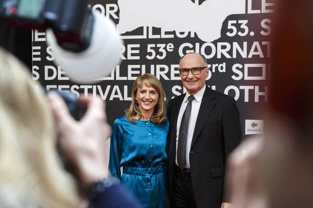 Seraina Rohrer und Felix Gutzwiller beim gemeinsamen Fotocall