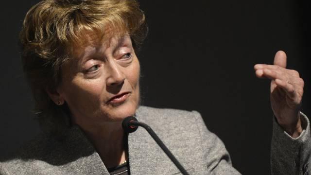 Bundesrätin Widmer-Schlumpf ist optimistisch für die Wirtschaft