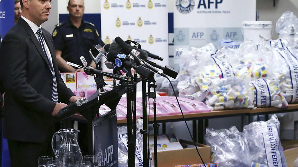 Unter anderem in BHs versteckt: Polizei im australischen Sydney beschlagnahmt Crystal Meth im Wert von umgerechnet fast 880 Millionen Franken.