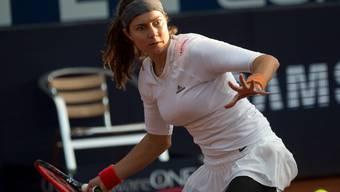 Stefanie Vögele scheitert in Lugano im Halbfinal an der 19-jährigen Weissrussin Arina Sabalenka.